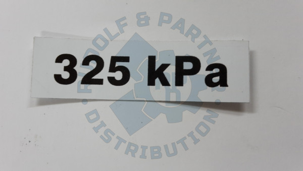 M25 Aufkleber - Reifenluftdruck