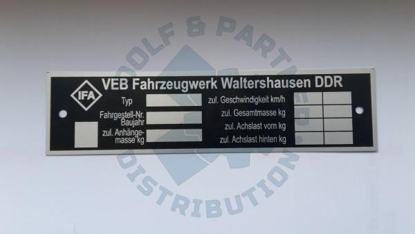 M25 Typenschild IFA-Fahrerhaus