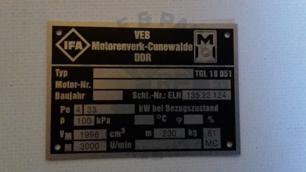 M25 Typenschild- Motor