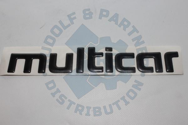 """M25 Schriftzug, """"multicar"""""""